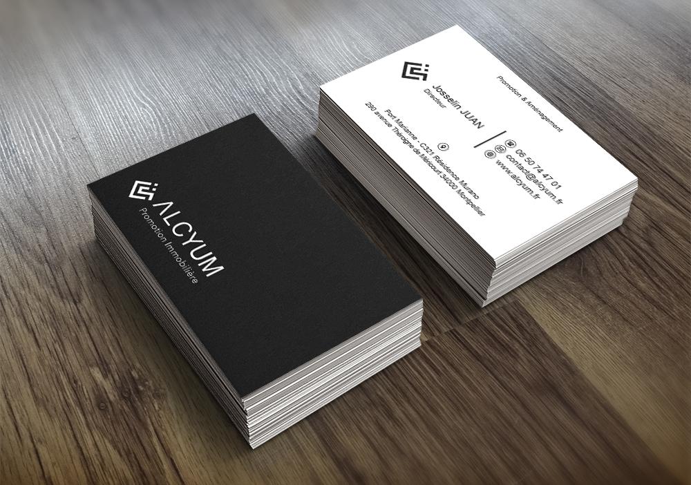 Cartes De Visite ALCYUM ABstract Communication