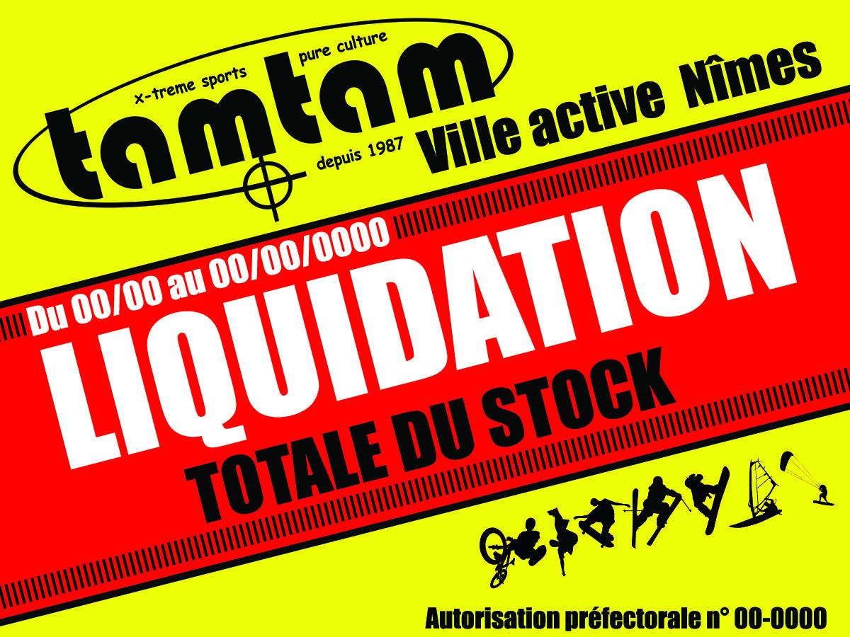 Affiche 4x3 liquidation total Tamtamshop