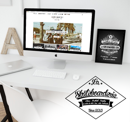 Logo la skateboarderie par abstract-communication