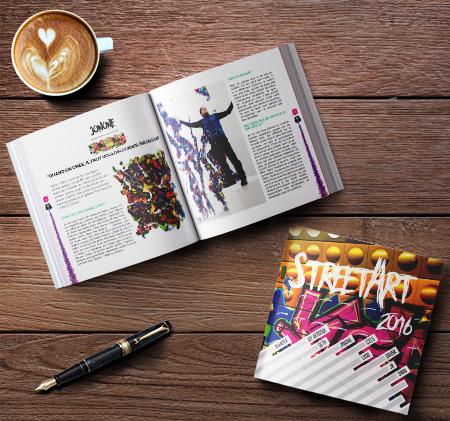 Réalisation dun livre de 40 pages sur le street art