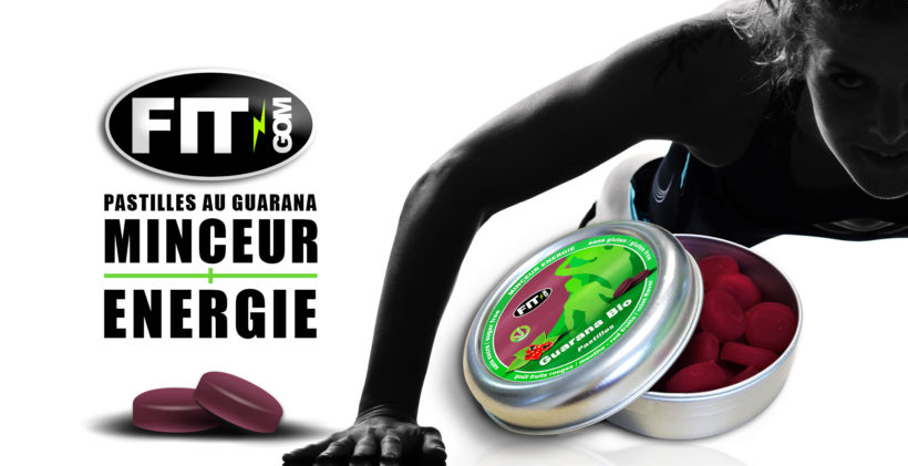 Création de packaging et logo de la société fit gom produits énergétiques pour le sport