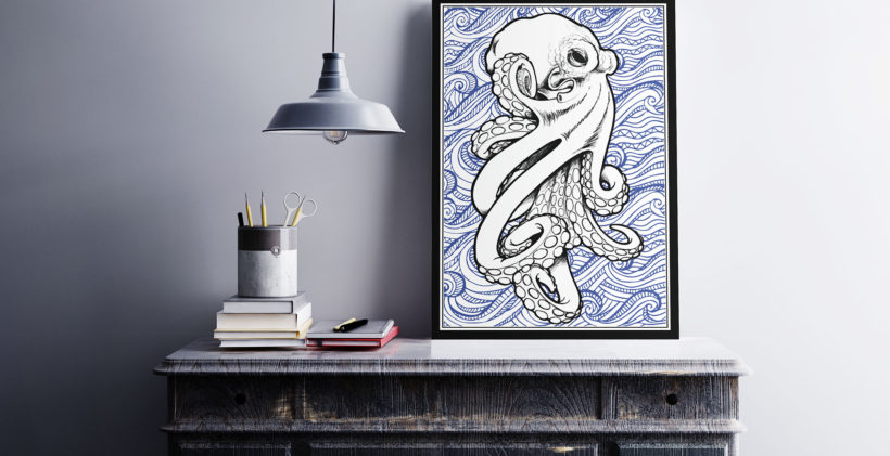 Tableau kraken par abstract-communication